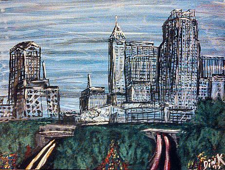 Raleigh, NC Skyline by Dink Densmore