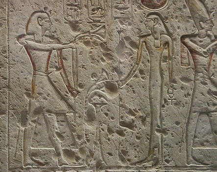 Ramesses II and Isis by Silvia Bruno
