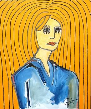 Ramona with Long Hair by Robert Catapano