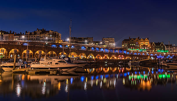 Ramsgate Marina At Night by David Attenborough