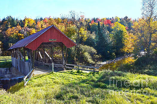 Randall Covered Bridge in Autumn by Catherine Sherman