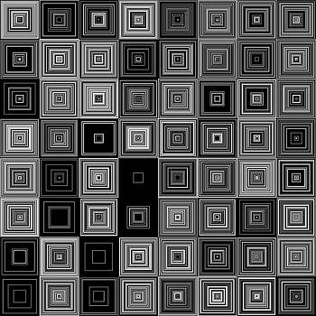 Random BW Squares by Ron Brown