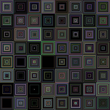 Random Colored Squares by Ron Brown