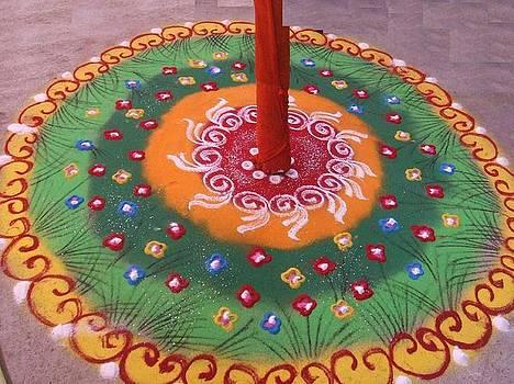 Rangoli-Indian Artwork by Upkar Raut