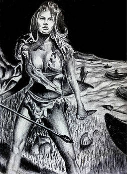 Raquel Welch In One Million Years BC by Portland Art Creations