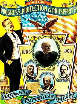 Peter Ogden - Rare 1906 Campaign Poster for Governor Theodore Roosevelt
