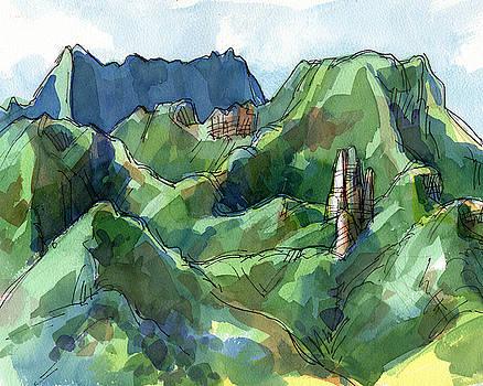Judith Kunzle - Rarotonga, Raemaru mountain view