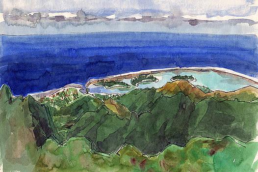 Judith Kunzle - Rarotonga, View from Te Manga