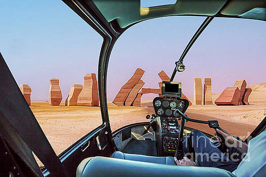 Ras Mohammed Helicopter by Benny Marty