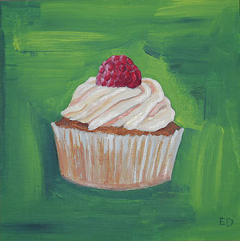 Raspberry Cupcake by Eleanore Ditchburn