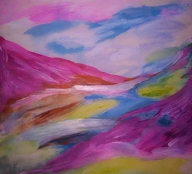 Raspberry mountains in paradise by Madina Kanunova