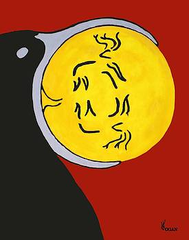 Raven Elk Moon by Will Logan