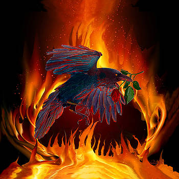 Raven Fire and Rose by Michele Avanti