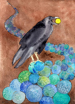 Raven on River of Spheres by Laura Star Studio
