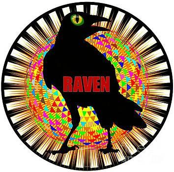 Peter Gumaer Ogden - Raven Spooky Bird Mandala