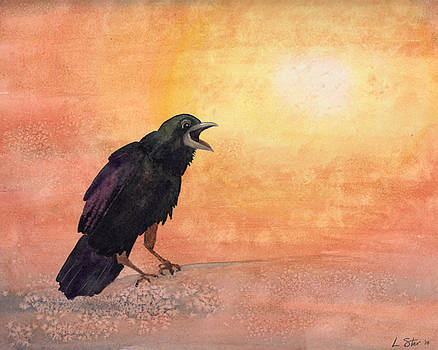 Raven Sunrise Sunset by Laura Star Studio