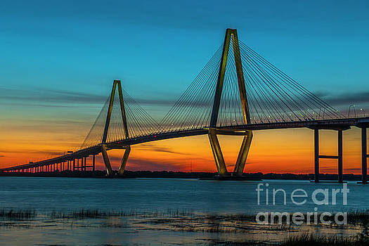 Dale Powell - Ravenel Bridge Orange Glowing