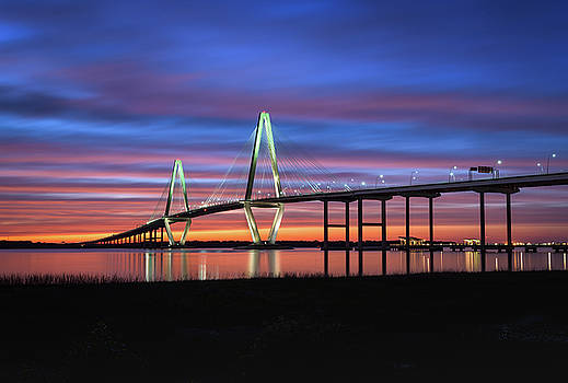 Ravenel Cooper River Bridge Sunset by Mark VanDyke