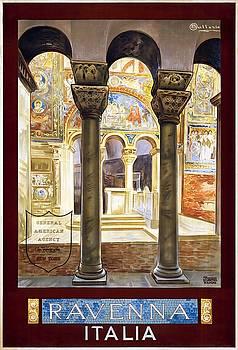 Ravenna, travel poster 1925 by Vintage Printery