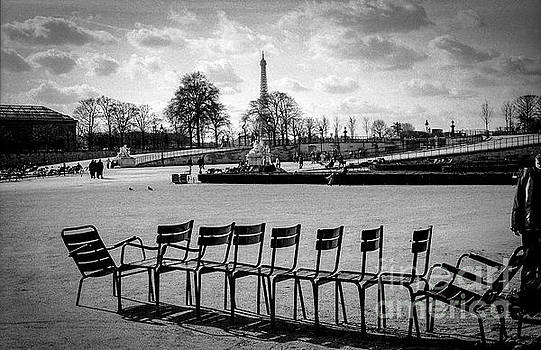 Cyril Jayant - Raw of Chairs in the Tuileries Garden paris.