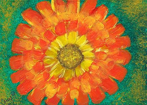 Ray of Sunlight Marigold by Carey Waters