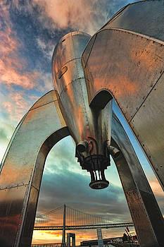 Raygun Gothic Rocketship Blast-Off by Steve Siri