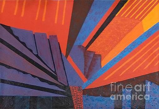 Rays Floor Cloth - SOLD by Judith Espinoza
