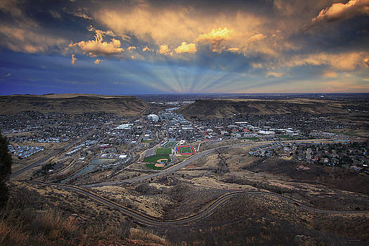 Rays Over Golden by Brian Gustafson