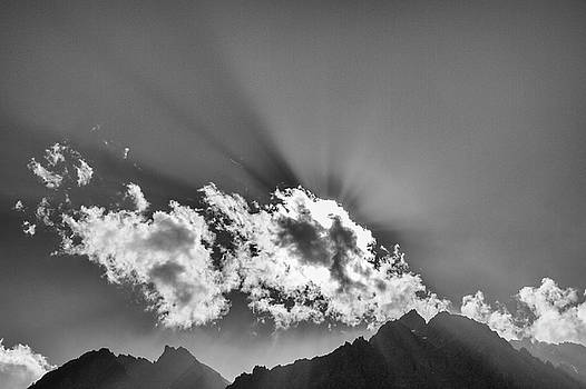 Rays through clouds, Keylong, 2005 by Hitendra SINKAR