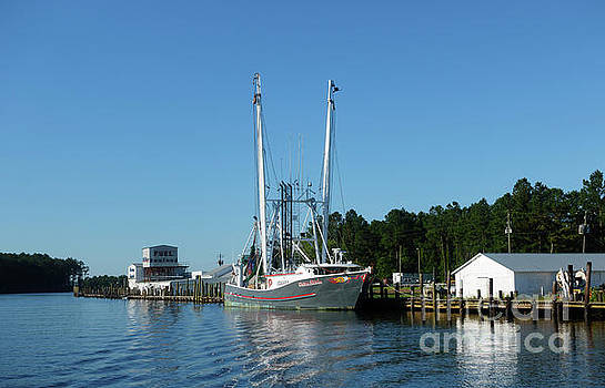 RE Mayo Seafood at Pamlico River North Carolina by Louise Heusinkveld
