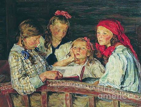 Nikolay Petrovich-Belsky - Reading A Book