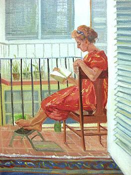 Reading on my Balcony by Zois Shuttie