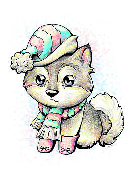 READY FOR WINTER Alaskan Malamute by Sipporah Art and Illustration
