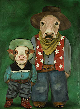 Leah Saulnier The Painting Maniac - Real Cowboys 3