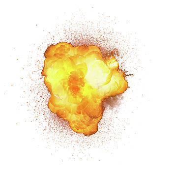 Realistic bomb explosion with sparks by Lukasz Szczepanski