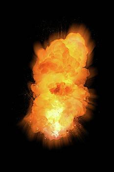 Realistic fiery vertical explosion by Lukasz Szczepanski