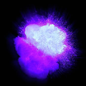 Realistic ultraviolet explosion with sparks and smoke by Lukasz Szczepanski