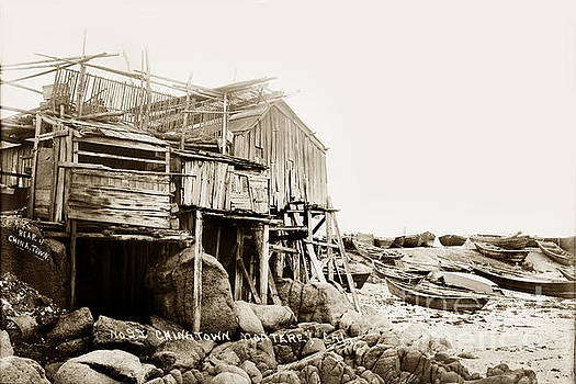 California Views Mr Pat Hathaway Archives - Rear of China Town Near Monterey Circa 1900