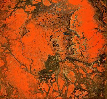 Rebirth-Acrylic Pour #5 by Richard Ortolano