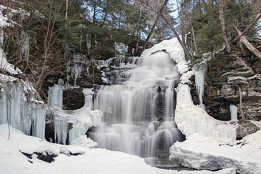 Gene Walls - Receding Winter Ice At Ganoga Falls