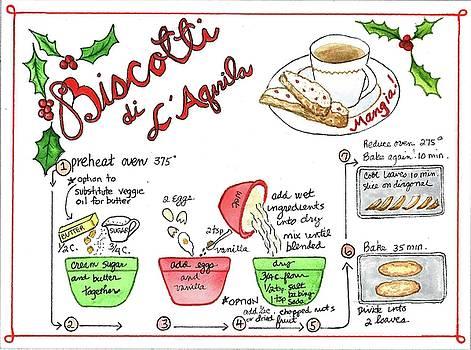 Recipe Biscotti by Diane Fujimoto