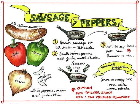 Recipe Sausage and Peppers by Diane Fujimoto