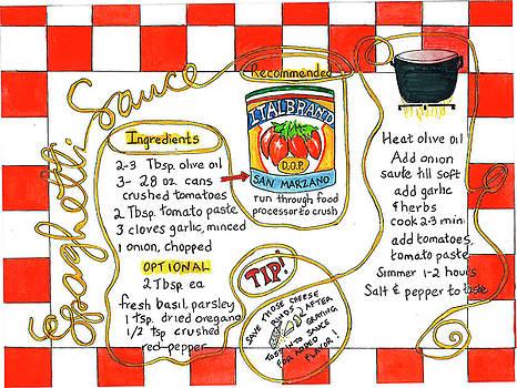 Recipe -Spaghetti Sauce  by Diane Fujimoto