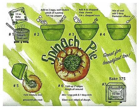 Recipe-Spinach Pie by Diane Fujimoto