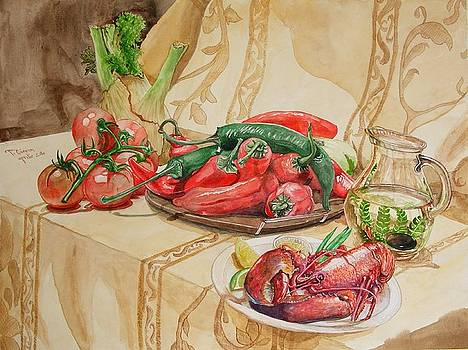 Recipe with baby-lobster and peperoni by Ciocan Tudor-cosmin