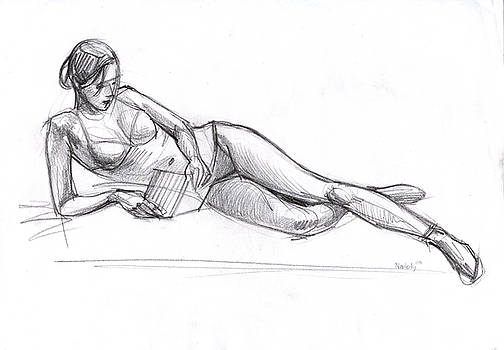 Reclined Nude by Natoly Art
