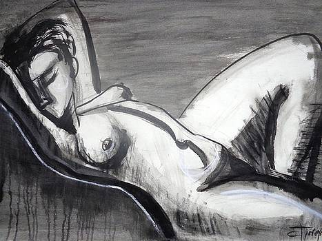Reclining 1 - Female Nude by Carmen Tyrrell