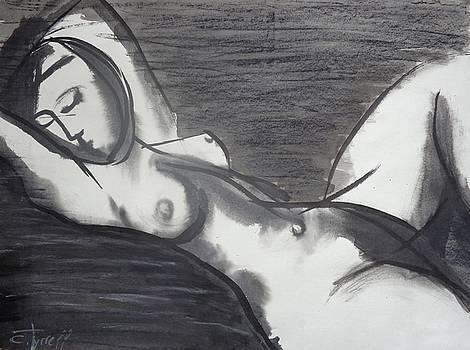 Reclining 3 - Female Nude by Carmen Tyrrell