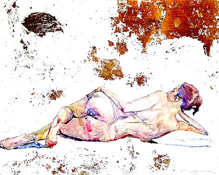 Reclining Nude With Gold by Elisha Dasenbrock