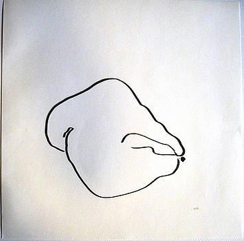 Recumbent Pear by Linda DiGusta